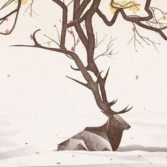 Elk Art Print by DKNG #elk #illustration