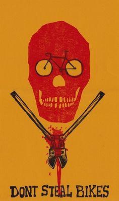 Joshua Norton Woodcut Prints & Posters #bikes #dont #joshua #steal #poster #norton
