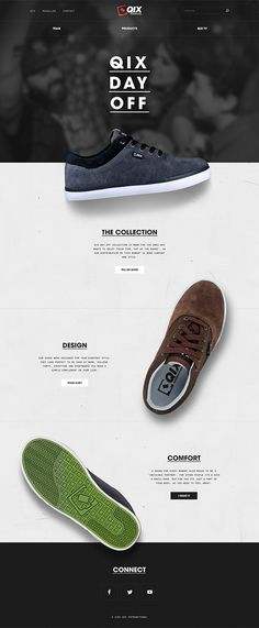 QIX国际上Behance #website #shoes