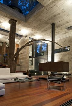 corallo-house-paz-arquitectura-15 #architecture #interior #wood #glass #concrete
