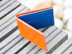 Slim Leather Wallet #tech #flow #gadget #gift #ideas #cool