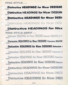 Filmotype Free Style type specimen #type #specimen #filmotype
