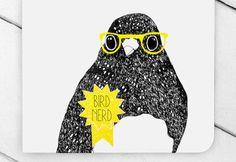Bird Nerd Greeting Card van ThePaperbirdSociety op Etsy