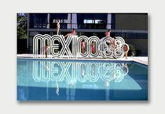 Mexico 1968. / Aqua-Velvet #mexico #photo #1960s #logo #olympics