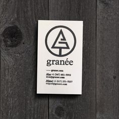 Granee stationary stamp #stamp #fir #business #debossed #tree #card #identity #minimal #vintage #fashion #logo
