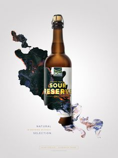 Beautiful bottle ad with painted elements. #ad #poster #packaging
