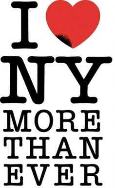 Fuel.: I love NY more than ever #heart #ny #i #logo #glaser #milton