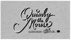 Quimby the Mouse by Chris Ware #movie #lettering #title #chris #card #retro #ware #type