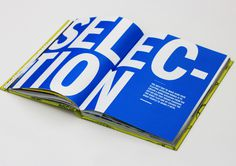 Flatmate's Handbook #design #book #large #titles #rules #type #selection #blue #typography