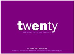 Paul Vickers : Design Thinking #year #twenty #purple #2010 #new