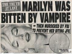 coqueterías - freecocaine: (via milkwithknivez, blueladybird) #vampires #paper #vintage #marilyn