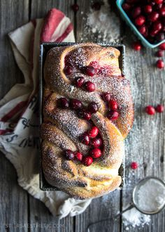 Cranberry Swirl Bread by Jonathan Stiers