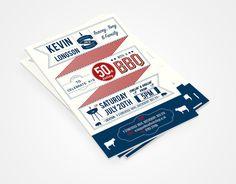 BBQ Invites - marklongson.com #type #letterpress #typography