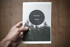 Winter time zine on Behance #zine #prints