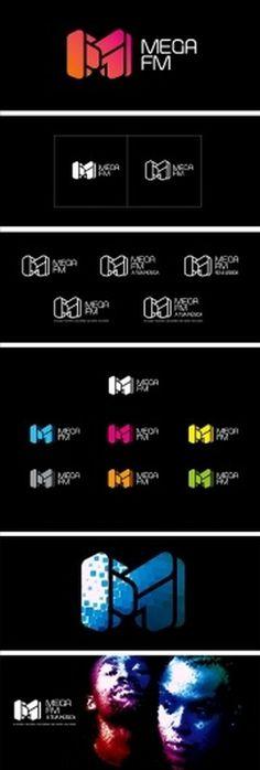 MEGA FM RADIO v.01 on the Behance Network #logo #brand