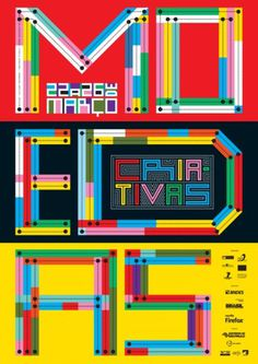 Moedas Criativas on the Behance Network #typography #type #colors