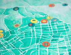 Watercolor Atlas #map #icons #watercolor #losangeles #geography #design