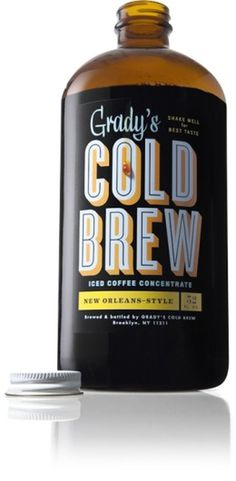 Grady's Cold Brew #typography #coffee #product #bottle