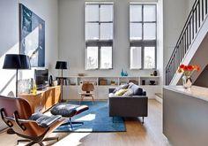 Riverdale Loft by Beauparlant Design » CONTEMPORIST #modern #chair #living #lounge #room #eames