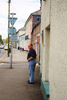 Wall-B World Wild: man exits pub in Brecon, Wales #old #brecon #man #pub #wales