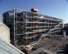 Design Fodder (Centre Pompidou brand by Jean Widmer.) #building #architecture #branding