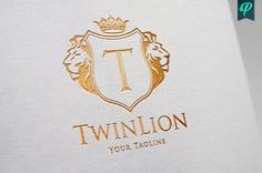 TwinLion – Heraldry Logo