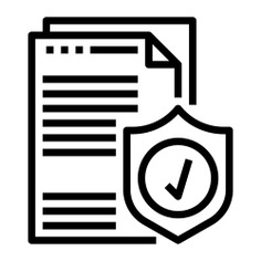 See more icon inspiration related to document, contract, paper, shield, pen, pencil, files and folders, signing, insurance, check mark, writing, files and security on Flaticon.