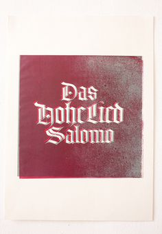 All sizes | »Hohelied« Blackletter in Linoprint | Flickr - Photo Sharing! #blackletter