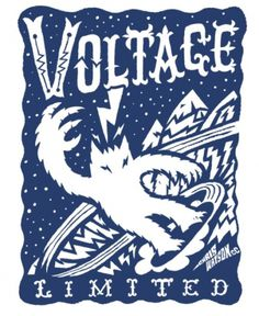 VOLTAGE #yeti #illustration #snowboard #custom #type