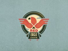 Red_eagle_3 #logo #branding #red #eagle #bird #emblem #community #charity #association #adline #brassai