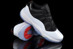 Nike Air Jordan XI Low White Black True Red Mens Shoes #shoes