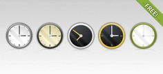 Free 5 psd clock icons Free Psd. See more inspiration related to Clock, Icons, Illustration, Watch, Psd, Clock icon and Horizontal on Freepik.