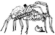 He Ent to the Blog : 1 of 3 #spiders #explicit #illustration #censored #drawing