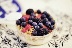 The cherry blossom girl #berries #granola #breakfast #blueberries