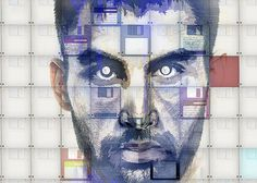 Digital disk portrait by Neil duerden