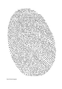 Imprint #text #pattern #fingerprint
