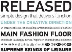 Din Text by Panos Vassiliou #font #serif #sans #type #parachute #typography