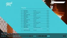 MoodPlay on the Behance Network #music #player #mood #modern