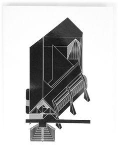 U #san #black #geometric #rocco #architecture