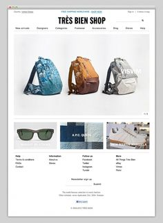 Bien Shop #inspiration #layout #web #webdesign