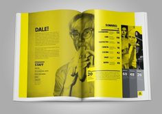 REVISTA DALE! by Esteban Esquivo #layout #yellow #andy