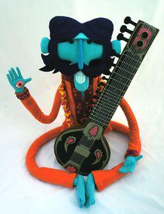 Pictoplasma Berlin 2013 artists revealed News Digital Arts #pictoplasma #guitar #musician #orange #mustache #eye #blue #character #toy