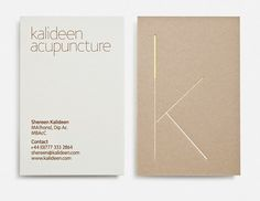 Magpie Studio #thin #business #cardboard #card #design #graphic #identity #acupuncture