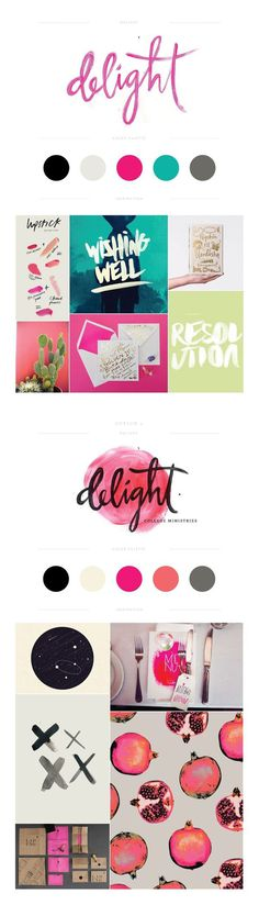 Delight Branding by Lauren Ledbetter Design & Styling #design #drawn #type #watercolor #hand