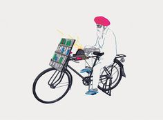 It's Nice That : Illustrator Sameer Kulavoor brings Bombay's bicycles to life with real flair and vitality #illustration
