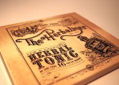 The Herbaliser #typography #vintage #package #letters #cd