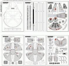 Papercraft Millennium Falcon – VECTORVAULT - Free Vector Downloads & Vector Art from Around the World #blueprint #print #paper