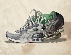 Puma : Ghostco #illustration #shoe