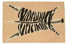 Wool Flat Weave Zebra Rug