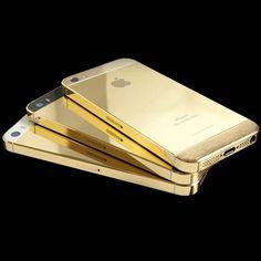 24-Karat Solid Gold iPhone 5S by Goldgenie #tech #flow #gadget #gift #ideas #cool
